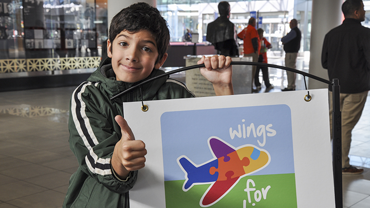 Thumbs Up for #WingsForAutism